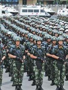孟建柱出席新疆武警部队防恐维稳誓师大会图片